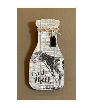 Fresh Milk Bottle Sign
