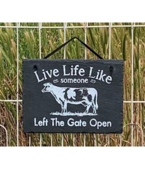 Open Gates Slate Hanger