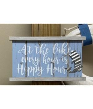 Lake Happy Hour Sign