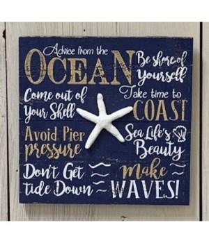 Ocean Advice Box Sign