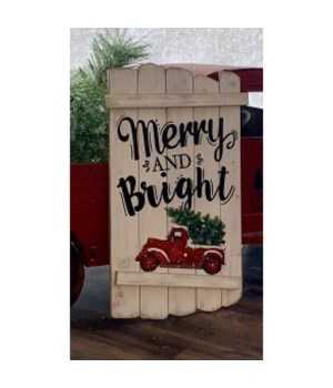 Merry & Bright Pallet Sign