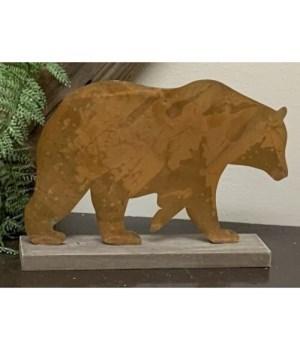 Metal Bear Sitter