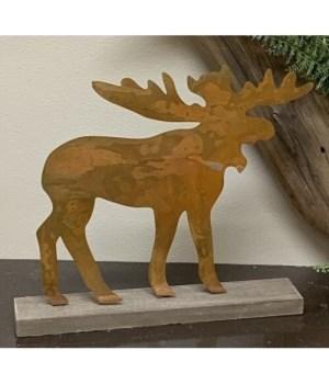 Metal Moose Sitter