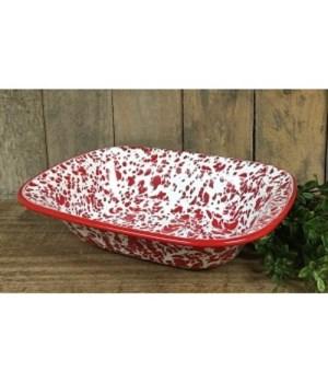 Red Splatter Enamel Baking