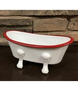 Red Rim Soap Dish