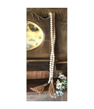 White Dist Bead Strand 60 in.