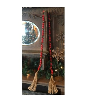 Red/Rusty Bell Bead Strand 60 in.