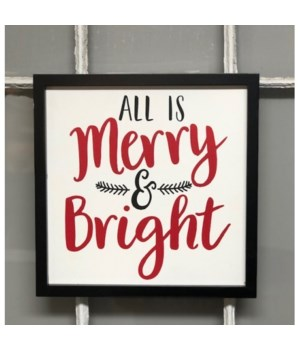 Merry & Bright Sign 12 in. x 12 in.