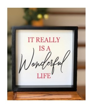 Wonderful Life Sign 6 in.x6 in.