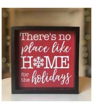 No Place Like Home Sign 6 in.x6 in.