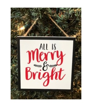 Merry and Bright Orn 4.5 in.x4.5 in.