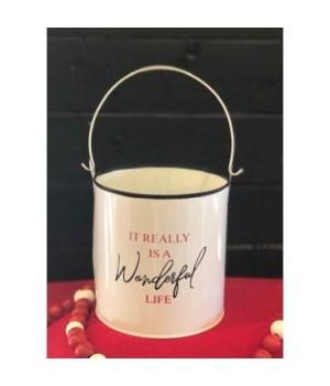 Wonderful Life White Bucket