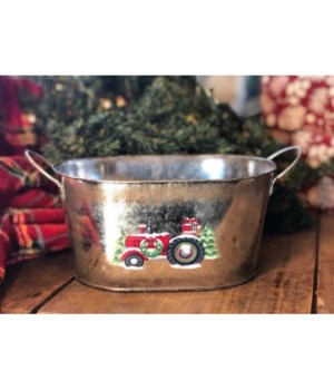 Christmas Tractor Oval Cont.