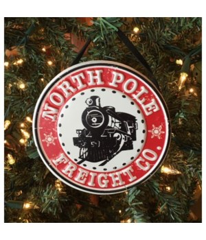 North Pole Freight Ornament 5 in.