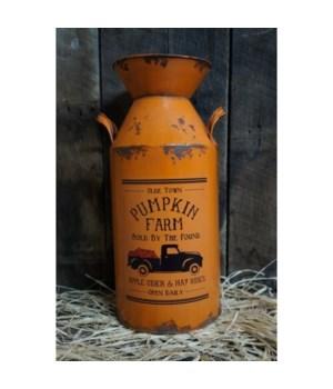 Pumpkin Farm Milk Can Lg