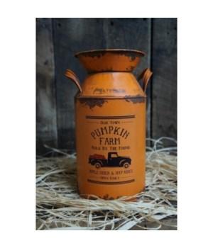 Pumpkin Farm Milk Can sm.