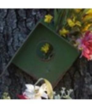 Green Metal Birdhouse 10 in.x7.5 in.