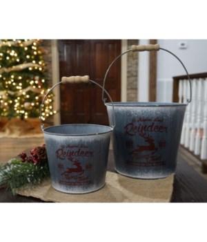 Reindeer Buckets (S/2)