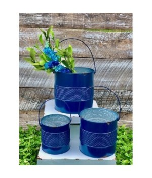 Bl Mid Text Buckets (Set of 3)