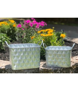 Diam Containers w/Handles (2)