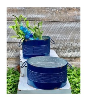 Blue Mid Text Oval Buckets (2)