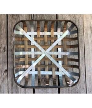 Tobacco Basket w/ Metal Straps