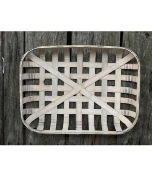 Rectangle Tobacco Basket Cream