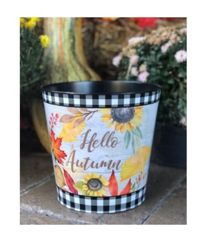 Hello Autumn Sunflower Bucket