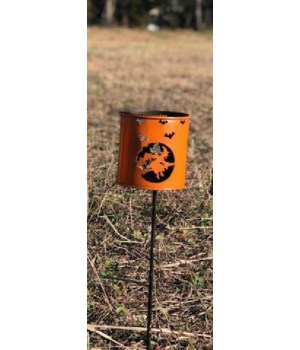 Orange Witch Yard Stake