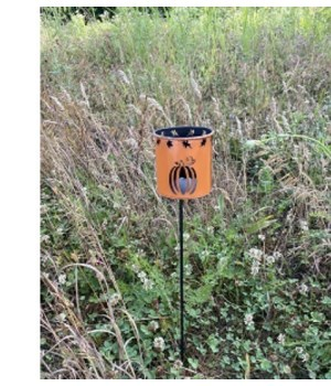 Orange Pumpkin Yard Stake