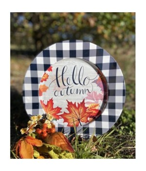 Hello Autumn Leaves Plate