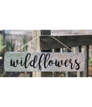 Wildflowers Metal Sign