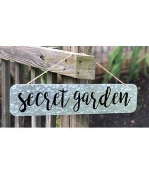 Secret Garden Metal Sign