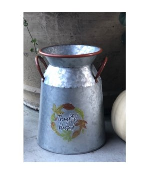 Thankful & Blessed Milk Can