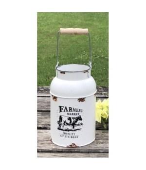 Farmers Market Milk Can 14x5.5