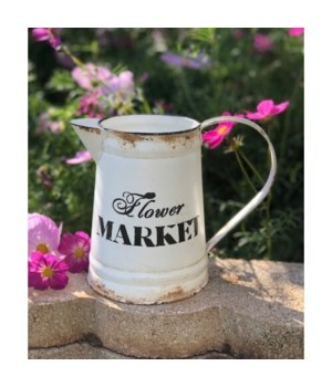 Flower Market Pitcher 7 in.