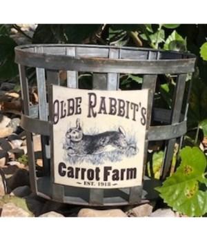 Olde Rabbit Metal Basket 7 in.x9 in.