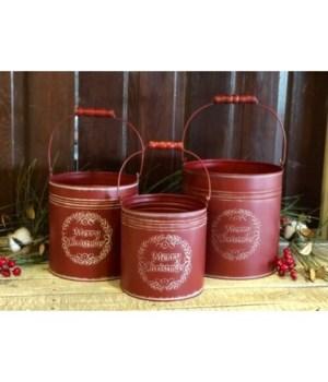Merry Christmas Buckets (S/3)
