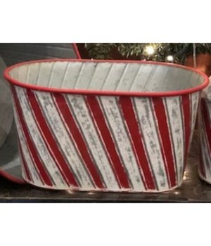 Candy Cane Oval Pan 13 in.