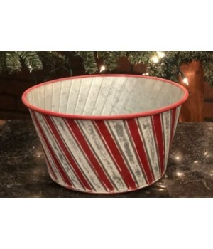 Candy Cane Round Tub 12 in.