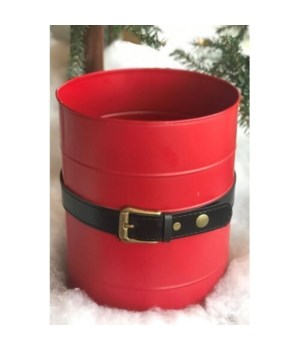 Santa Belt Red Bucket 9.5x7.75