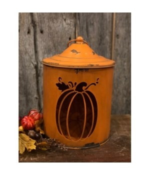 Silo Pumpkin Lantern 11.5 in.