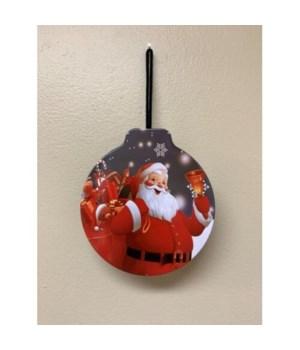 Magical Santa Tin Ornament