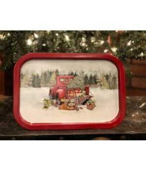 Red Truck Tray Sm 13.5 in.x9 in.