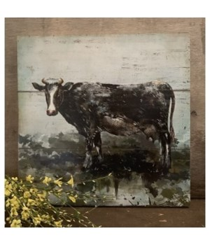 Cow Artwork Box Sign