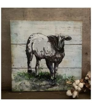 Sheep Artwork Box Sign