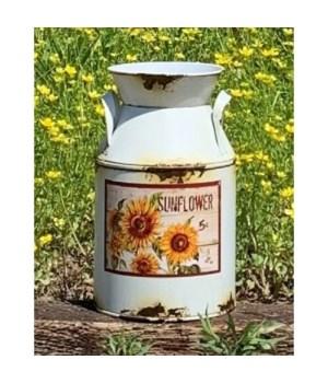 Cream Dist. Sunflower Milk Can