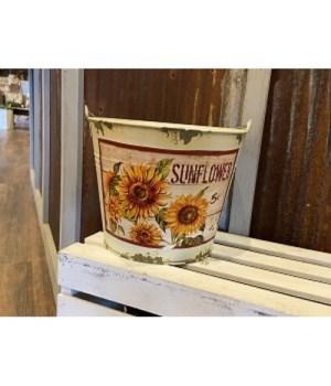 Cr Dist Sunflower Bucket Sm