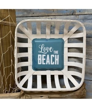 Love The Beach Tob Basket Sign