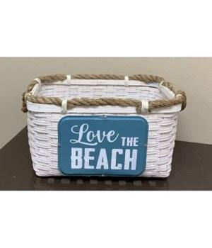Love The Beach Woven Basket